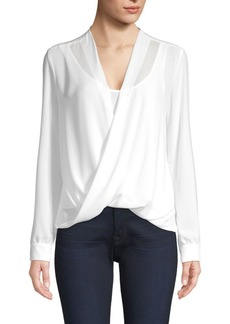 Bailey 44 Draped Georgette V-Neck Top