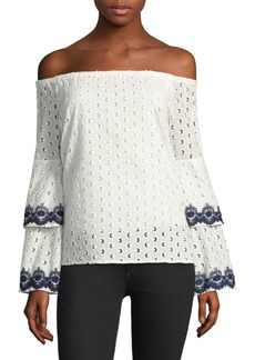 Bailey 44 Eyelet Ruffle Top