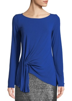 Bailey 44 Fall For You Gathered Long-Sleeve Jersey Top