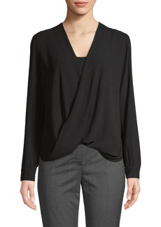 Bailey 44 Faux Wrap Long-Sleeve Top