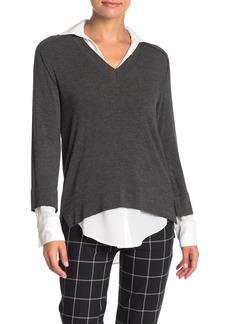 Bailey 44 Grand Duke Contrast Trim Knit Sweater Top