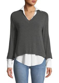 Bailey 44 Grand Duke Layered Sweater Twofer Top