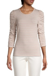 Bailey 44 Inna Stripe Ruched-Sleeve Top