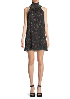 Bailey 44 Irina Floral Turtleneck Sleeveless Mini Dress