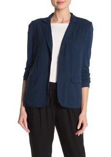 Bailey 44 Jeera Frayed Notch Collar Silk Jacket