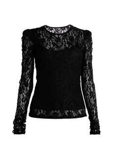 Bailey 44 Jenna 2-in-1 Long-Sleeve Lace Top