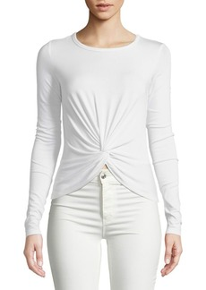 Bailey 44 Knotted Long-Sleeve Top