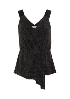 Bailey 44 Lauren Sparkle Jersey Asymmetric Top