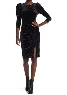 Bailey 44 Lily Velvet Ruched Puff Sleeve Dress