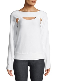 Bailey 44 Long-Sleeve Fleece Cutout Top