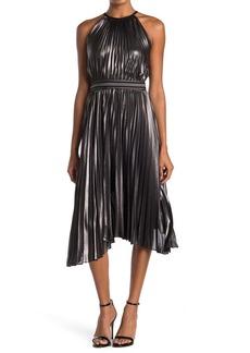 Bailey 44 Madison Pleated Asymmetrical Hem Midi Dress