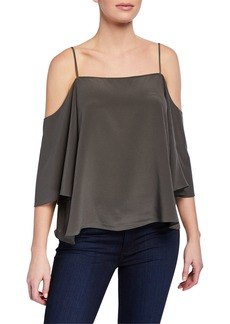 Bailey 44 Moonlight Walk Cold-Shoulder Silk Top
