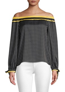 Bailey 44 Off-The-Shoudler Polka Dot Top