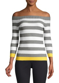 Bailey 44 Off-The-Shoudler Striped Sweater