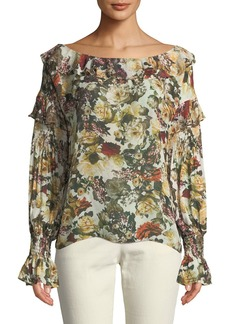 Bailey 44 Once Upon A Time Floral-Print Ruffled Top