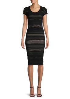 Bailey 44 Open-Knit Bodycon Dress