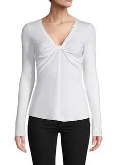 Bailey 44 Petula Twist-Front Ribbed Top