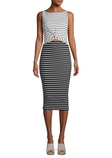 Bailey 44 Rabbit Hole Striped Bodycon Dress