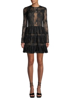 Bailey 44 Riviera Lace Long-Sleeve Cocktail Dress