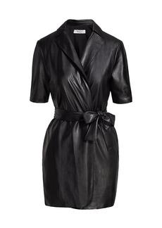 Bailey 44 Robin Vegan Leather Wrap Dress