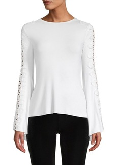 Bailey 44 Romanov Bell-Sleeve Lace Top