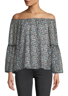 Bailey 44 Sado Off-The-Shoulder Floral Bell-Sleeve Blouse