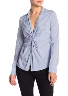 Bailey 44 Tallula Twist Front Pinstripe Blouse