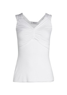 Bailey 44 Tapioca Ruched Off-The-Shoulder Top
