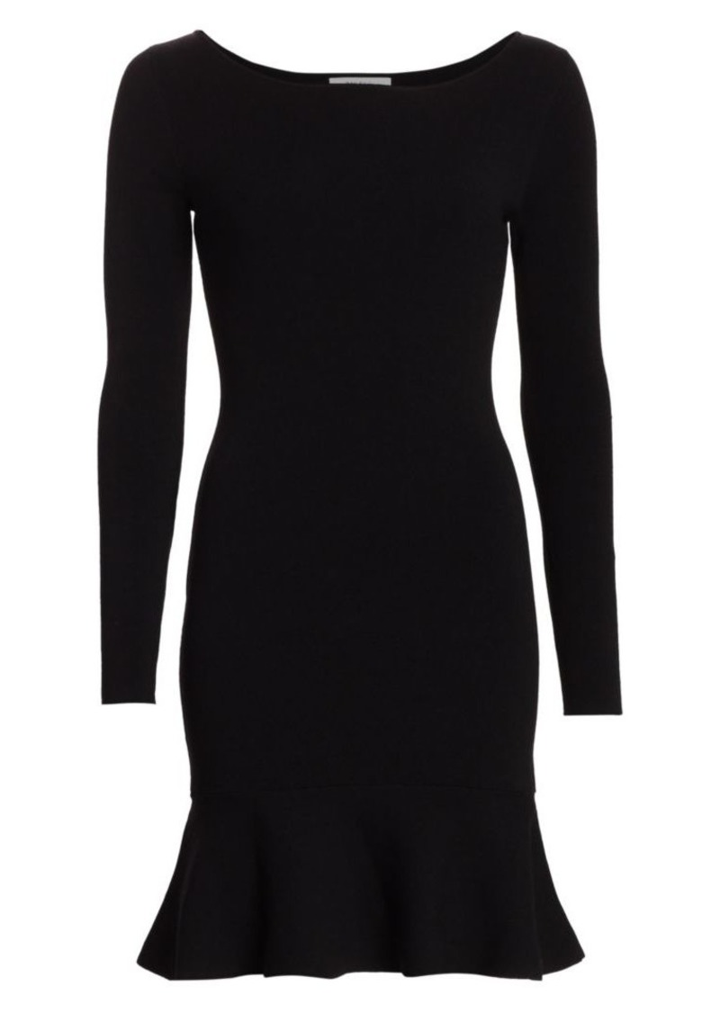 Bailey 44 Tara Long-Sleeve Ruffle-Hem Dress
