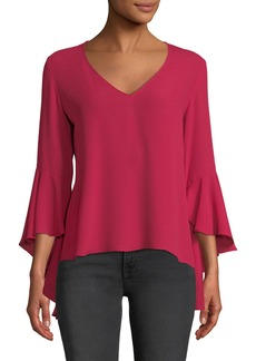 Bailey 44 Tatyana Ruffle-Sleeve V-Neck Top