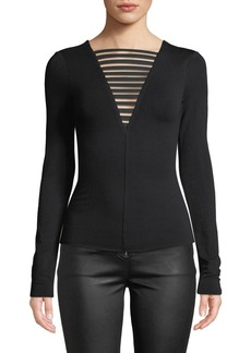 Bailey 44 The Low Down Strappy Long-Sleeve Jersey Top