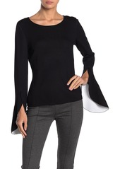 Bailey 44 Two-Tone Bell Sleeve Sweater