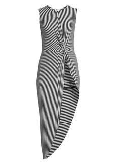 Bailey 44 Vertigo Stripe Asymmetric Dress