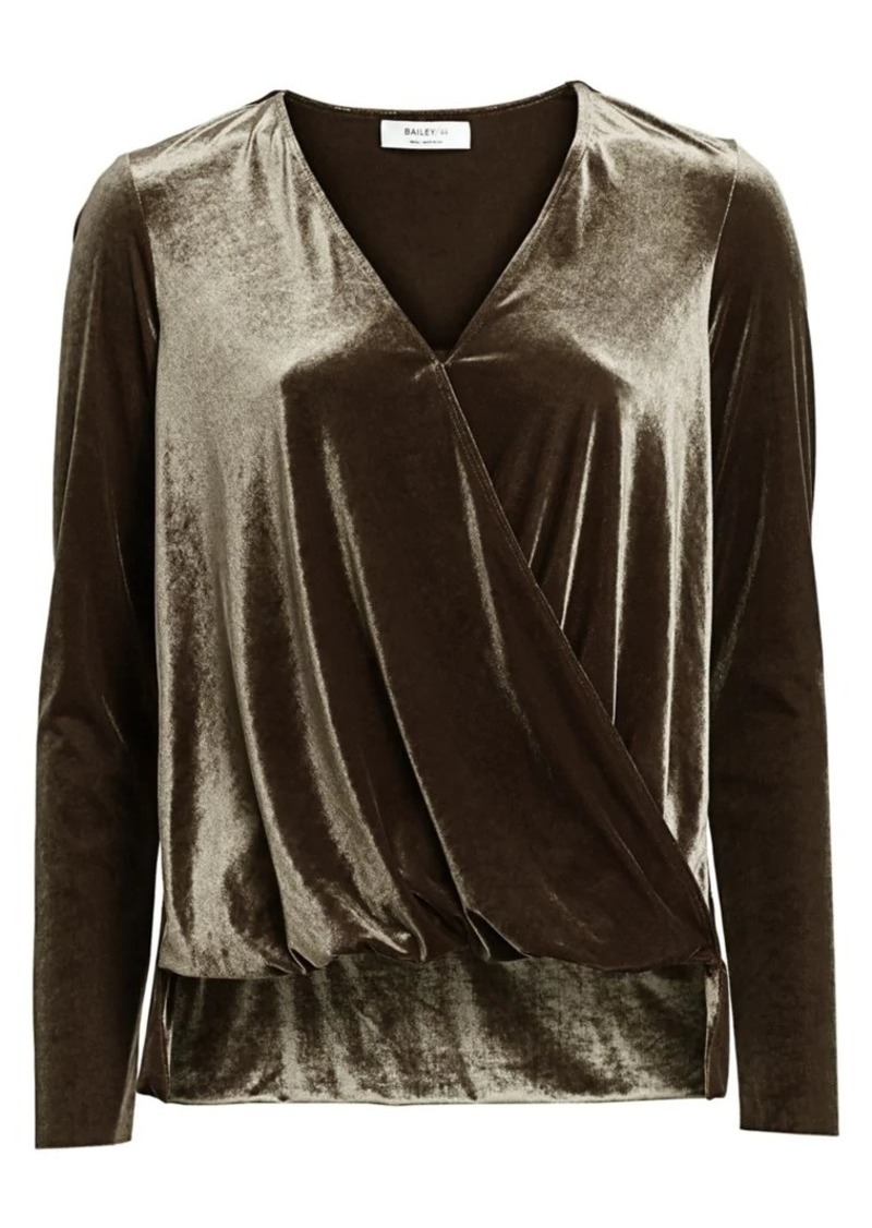 Bailey 44 Victoria & Albert Velvet Wrap Top