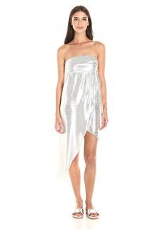 Baja East Women's  Metallic Strapless Dress