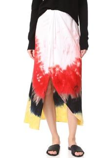 Baja East Women's Tie Dye Cotton Skirt Paradise 41