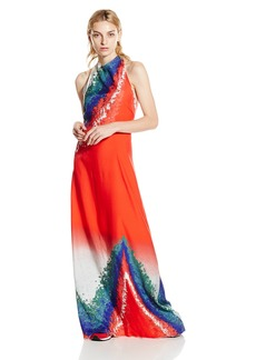 Baja East Women's Tye Dye Print Halter Dress