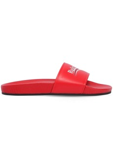 Balenciaga 10mm Campaign Leather Slide Sandals