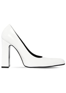 Balenciaga 110mm Round Toe Brushed Leather Pumps
