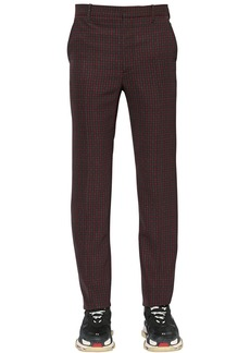 Balenciaga 19cm Tech Twill Check Trousers