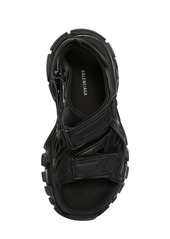 Balenciaga 30mm Track Faux Leather & Nylon Sandals