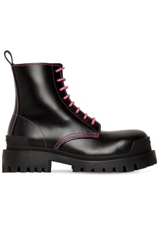 Balenciaga 50mm Strike Leather Combat Boots