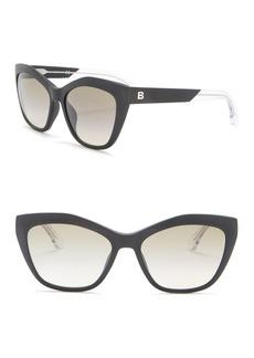 Balenciaga 56mm Modified Cat Eye Sunglasses
