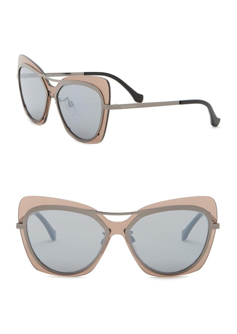 c4f056db0a Balenciaga 57mm Cat Eye Browbar Sunglasses