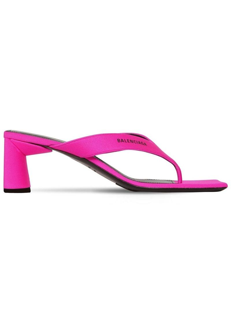 Balenciaga 60mm Double Square Spandex Sandals