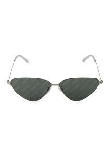 Balenciaga 61MM Triangle Logo Sunglasses