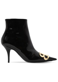 Balenciaga 80mm Bb Patent Leather Ankle Boots