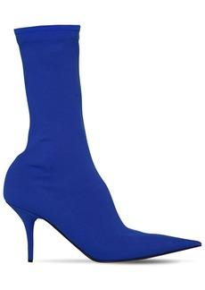 Balenciaga 80mm Knife Jersey Crepe Sock Boots
