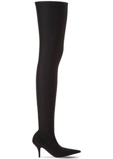 Balenciaga 80mm Knife Spandex Over The Knee Boots