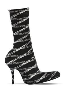 Balenciaga 80mm Monogram Logo Spandex Boots